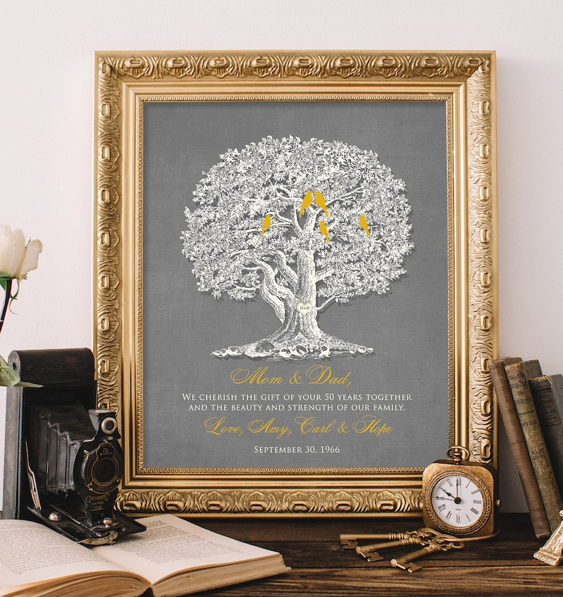 50th Wedding Anniversary Gift 8x10 Print Parents Etsy