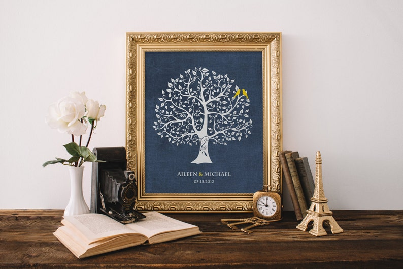 Personalized Custom Love Bird Wedding Family Tree  New home image 0