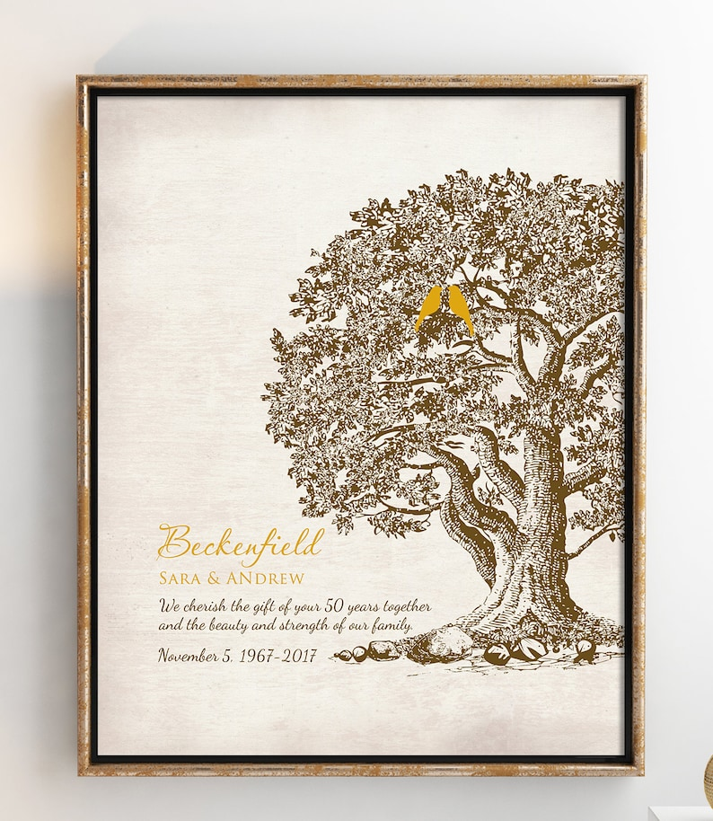 aa07ccfc4f498 50th Wedding Anniversary Tree Gift Anniversary gift for