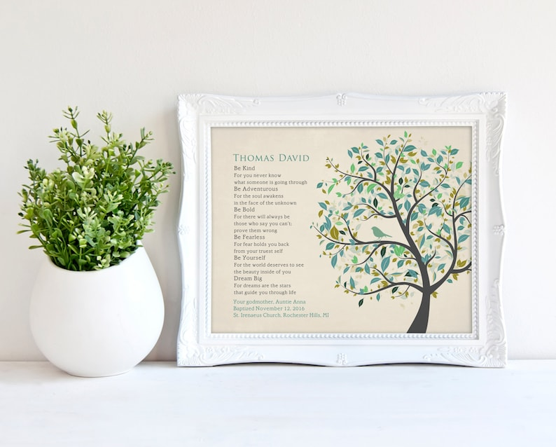 Personalized Baptism Gift from Godparents Christening Gift for image 0