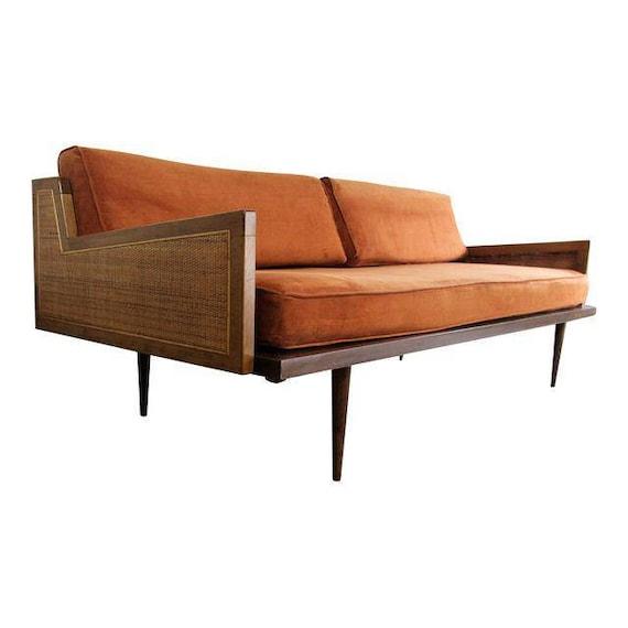 Mid Century Modern Danish Modern Walnut Daybed Sofa Special | Etsy