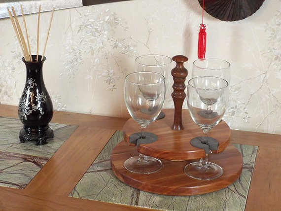 35 - Wine Glass Caddy (only) stemmed (4 station)