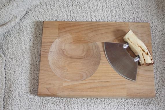 2. Ulu Knife w/ Chopping Board