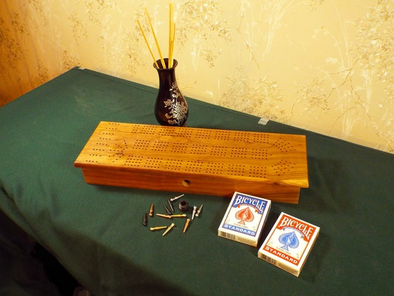39. 4 Track Cribbage Board / Box