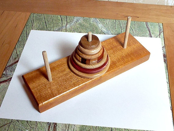 7. The Hanoi Tower Handcrafted Game