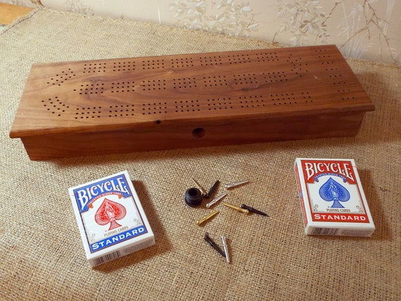 38. 3 Track Cribbage Board / Box