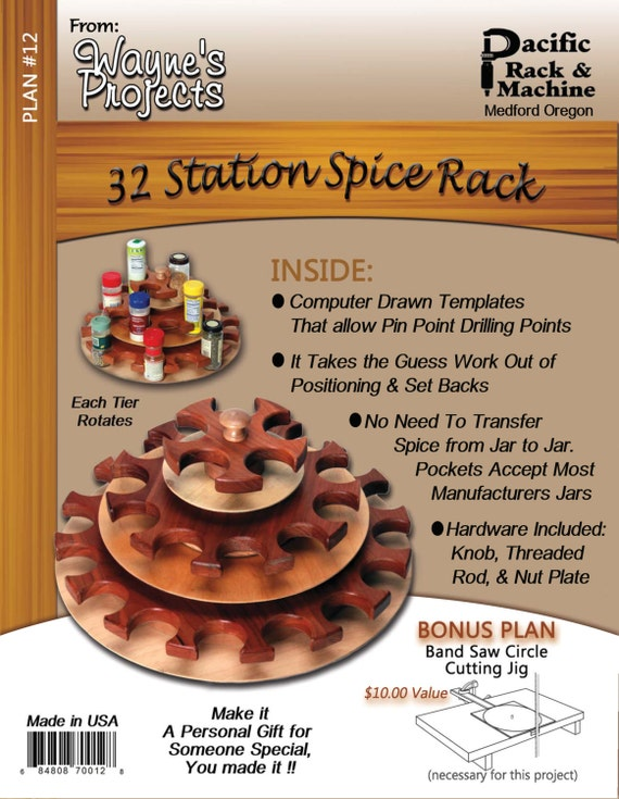G. 32 Station Spice Rack Plans