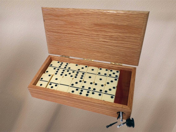 36. Dominoes Box w/Cribbage Board Scoring