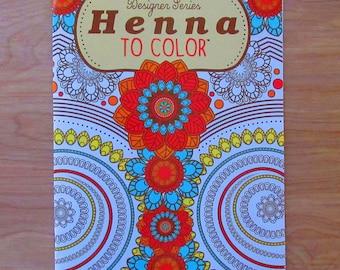 Henna To ColorDesigner SeriesAdult Coloring BookHenna DesignsHenna Art