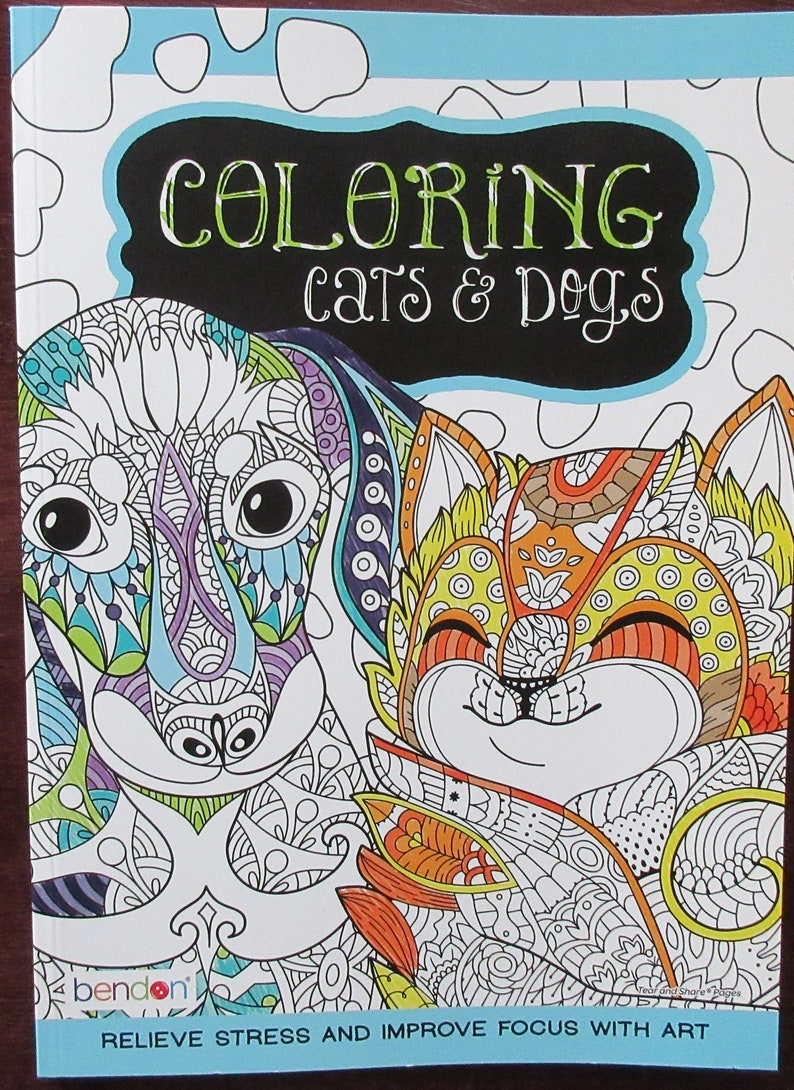 3 Coloring books with Cats and Dogs Stickers Bendon Puppies and Kittens Coloring Book Super Set