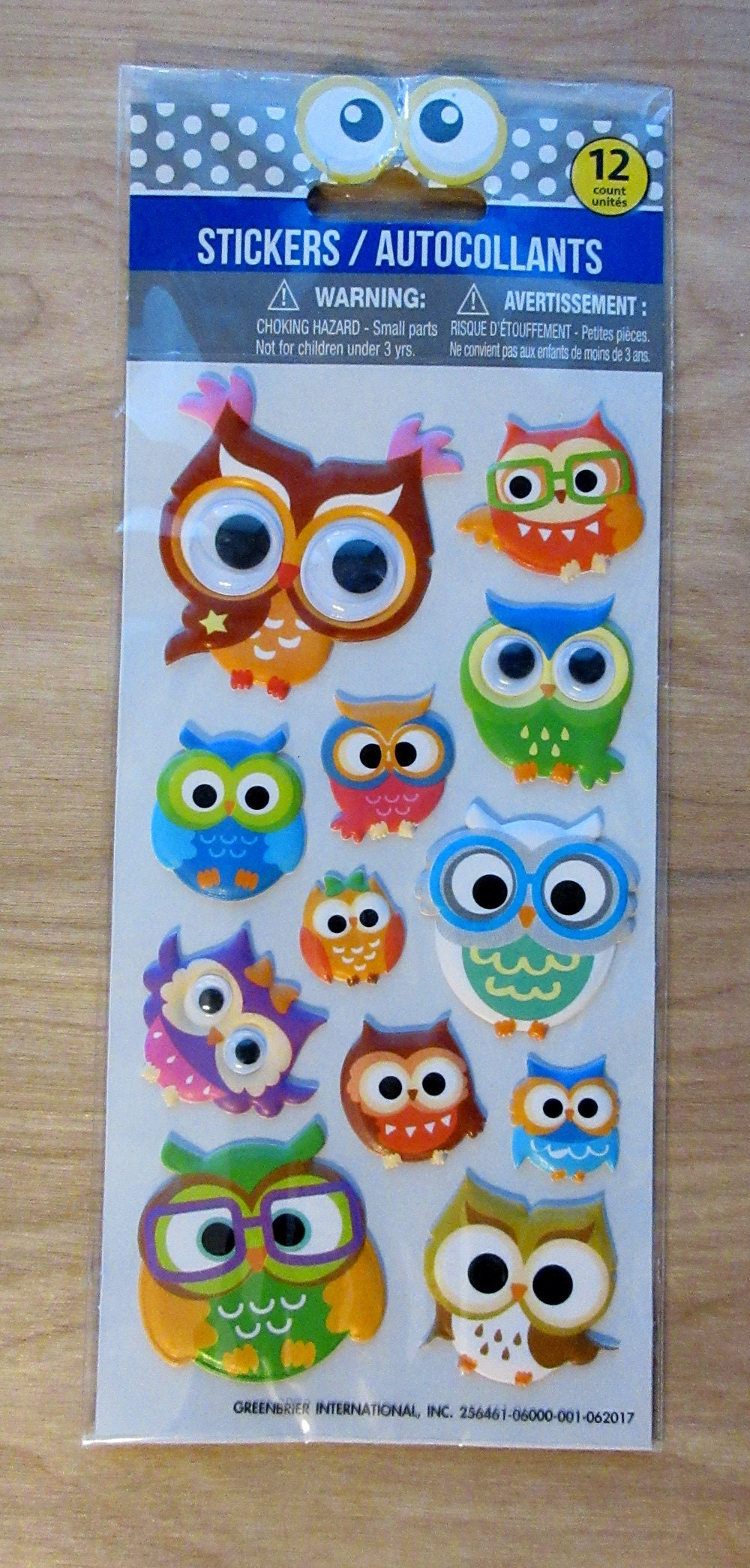 Colorful Owl Stickers Greenbrier