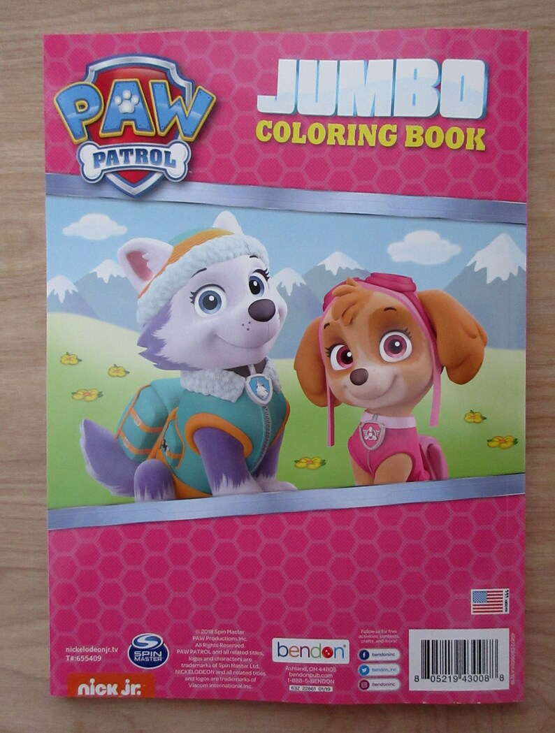 Paw Patrol Jumbo Coloring Book Mountain Rescue Skye Everest Marshall Rubble