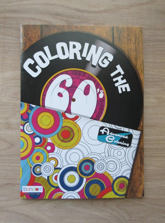 Livre De Coloriage Des Années 60 De Coloriage Peace And Love Etsy