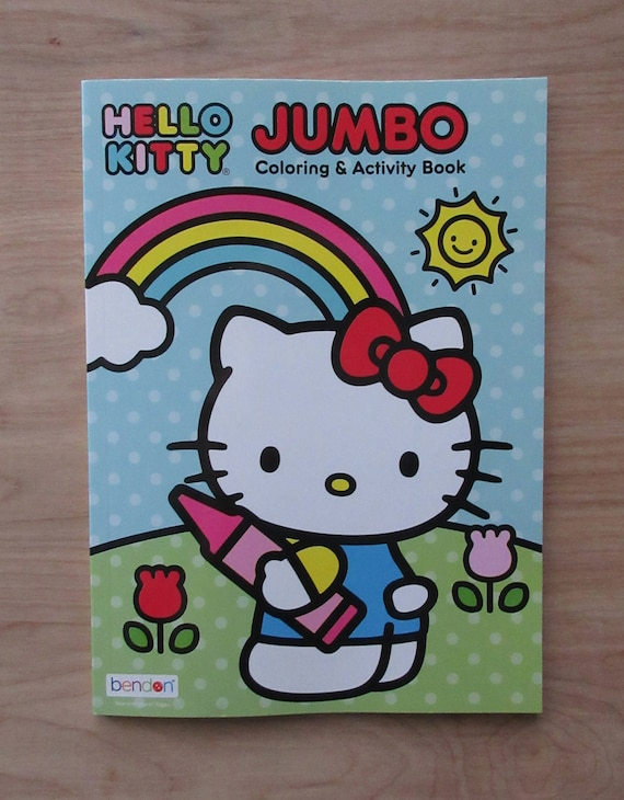 Hello Kitty Jumbo Coloring Book Super Cute