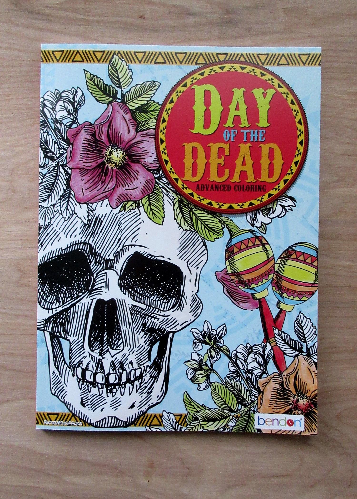 - Day Of The Dead Coloring Book Cinco De MayoSkullsFiesta Etsy