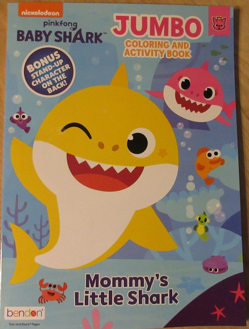 Baby Shark Jumbo Coloring And Activity Book Mommy's | Etsy