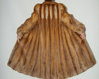 RED FOX Fur Coat Full Length size Medium