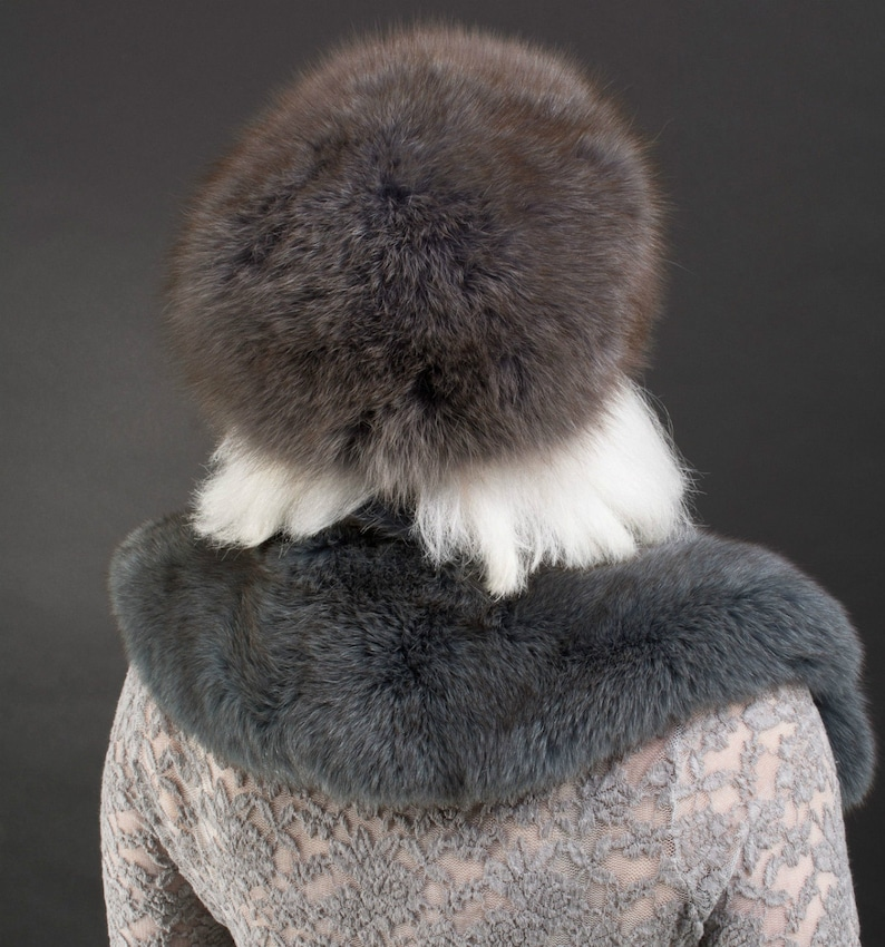 LOVELY Dyed BLUE Blue Fox COLLAR with Matching Hat Sale!!!!