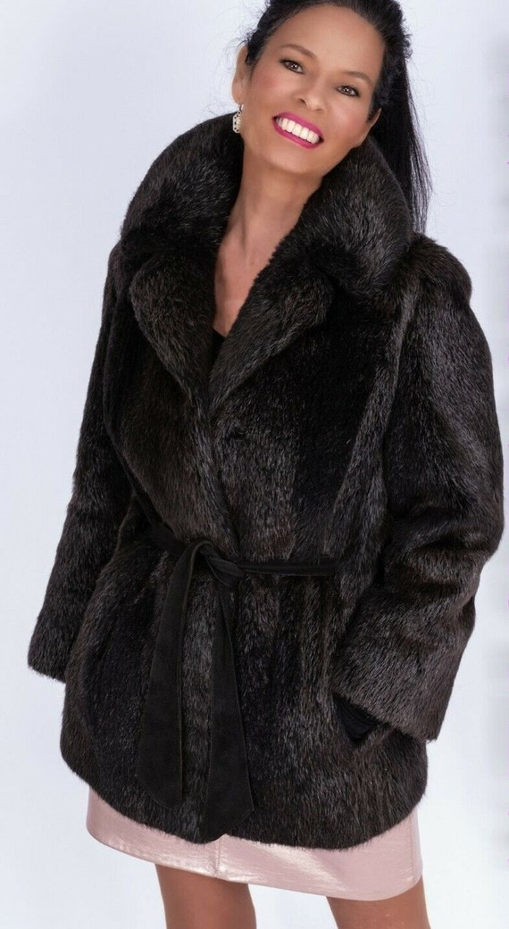 Beautiful Soft Brown Beaver Coat Jacket from Whole