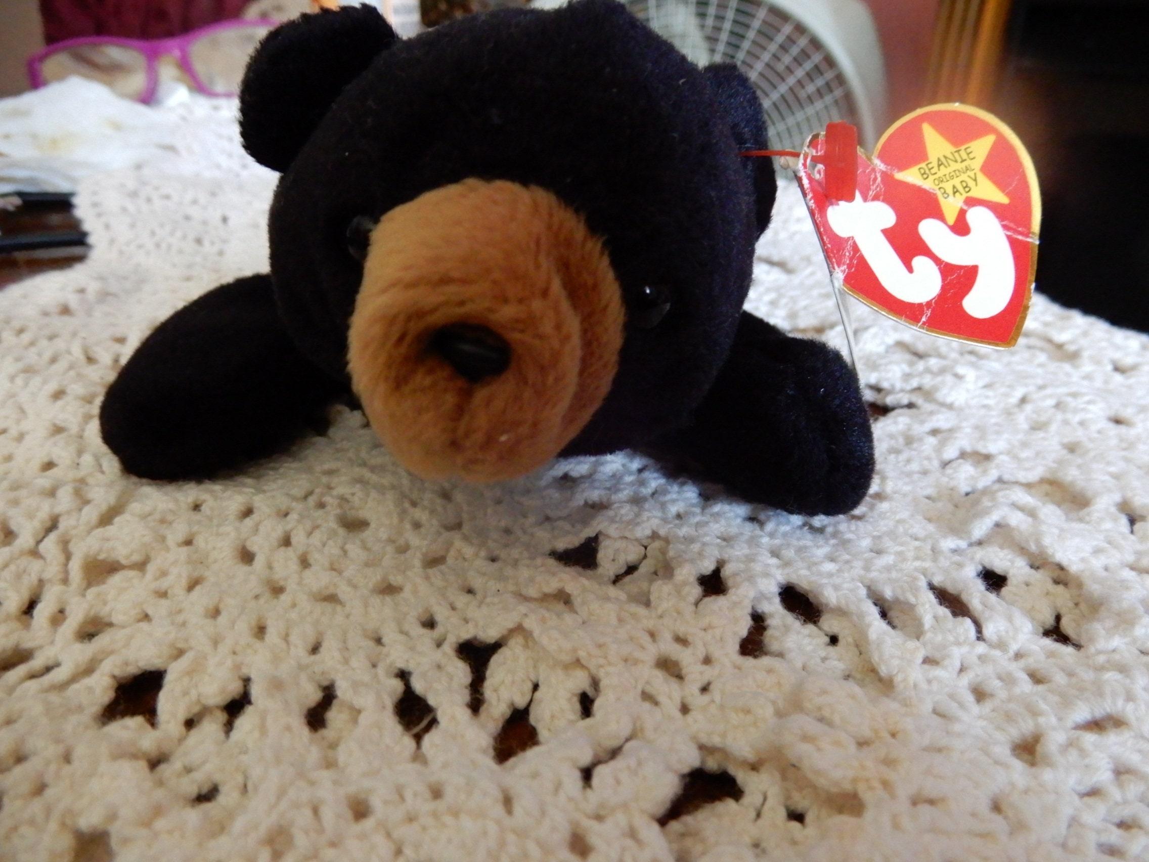 4f0b663f90b BLACKIE the BEAR Rare Ty Beanie Baby Tag Errors Origiinal Suface ...