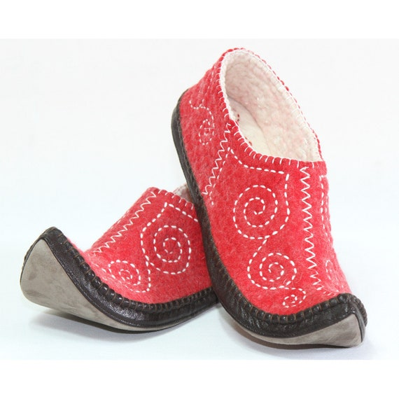 Mongolian Felt Slippers pantoufles