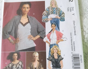 cbd77c593e McCall's Uncut Sewing Patterns, McCalls M5182, Misses' Popover and Shrug,  Size: Xsm-Sml-Med