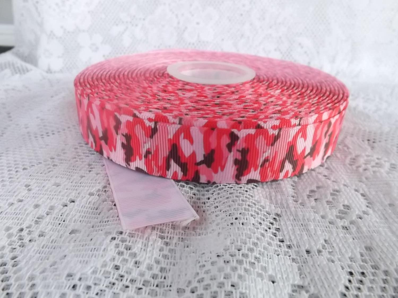 Pink camo ribbon camouflage ribbon 7/8 pink camouflage ribbon   Etsy