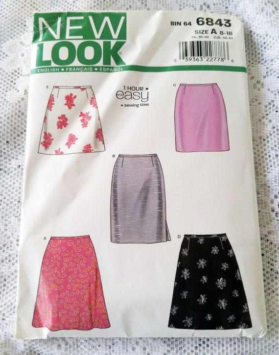 New Look Sewing Patterns Misses\' Skirts Pattern 6843 | Etsy