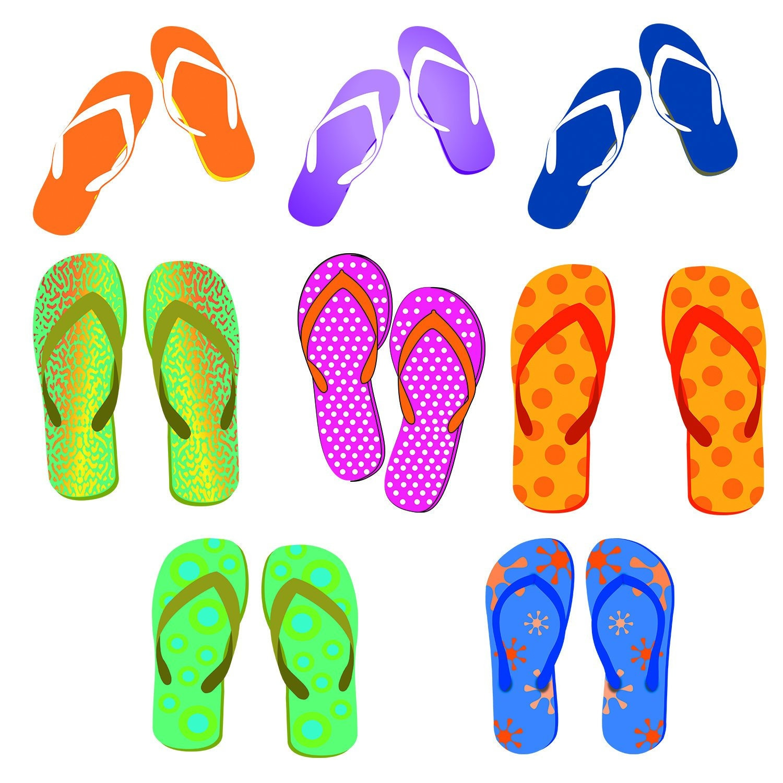 9f7682a94330c9 Flip flops clipart summer sandals clipart flip flops etsy jpg 1500x1500  Summer flip flop clipart