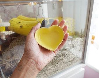 Yellow Ceramic Heart Dish