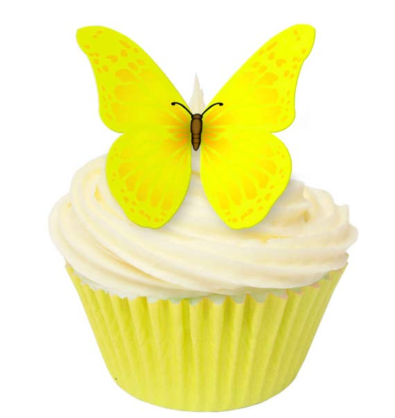 24 x Retirement Cupcake Fairy Cake Toppers Edible Rice Wafer Card