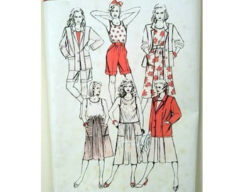 UNCUT Sew easy by Hillary James Summer Wardrobe Vest Sun Top Bermuda Shorts Sun Beach Summer Dress and Jacket Sewing pattern 6 Sizes UK 8-18