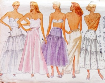 "Butterick 4407 Vintage 80's Petticoat Sewing Pattern 5 Options Flared Rockabilly Ruffle or Straight Petticoat Slip Size Waist 28"" UK 14"