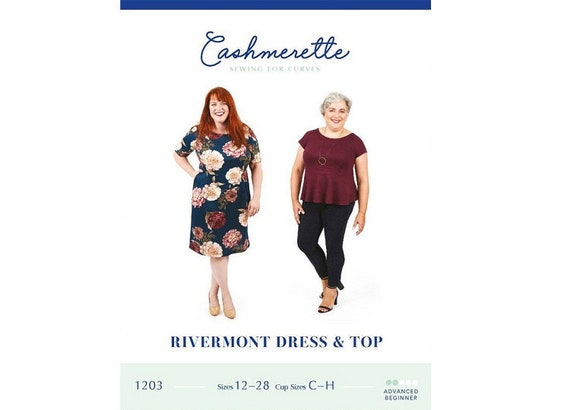Cashmerette Ladies Plus Size Easy Sewing Pattern Rivermont ... Free UK P/&P