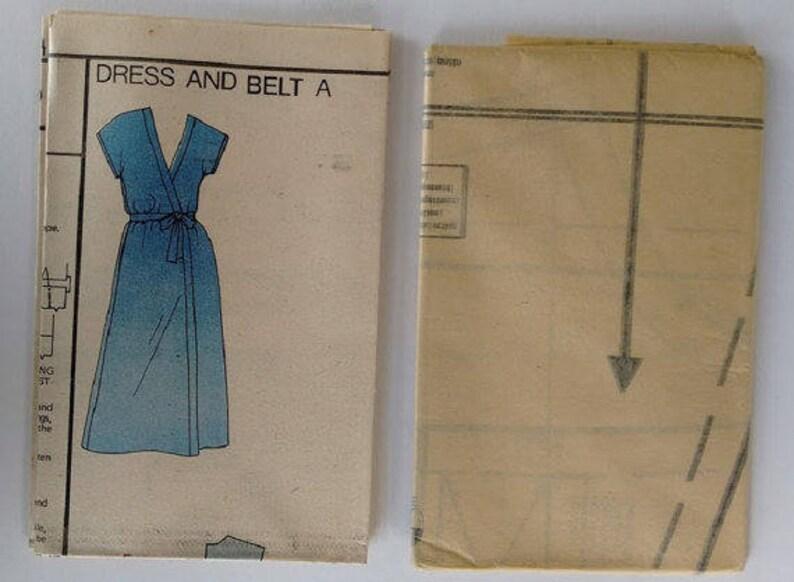 6844b89c6826 UNCUT Vintage Vogue 7982 Strapless Coat Jumpsuit Romper Wrap