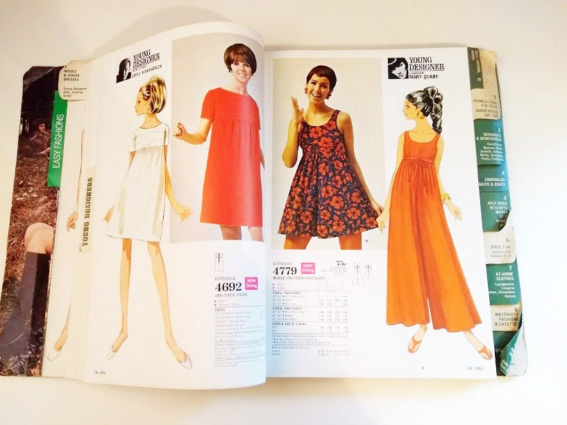 Mary Quant pantdress pattern 4779 in the Butterick retail catalog, November 1969
