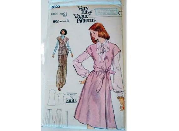 UNBESCHNITTENEN Vogue 8693 Vintage 70er Jahre sehr einfach | Etsy