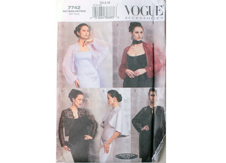 6bbe1b42474 UNCUT Vogue Accessories 7742 Evening Bridal Wrap Shrug Jacket
