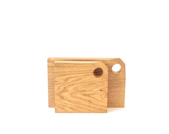 Oiled oak cutting board, chopping board, tray or trivet