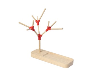 Tree jewelry holder, oak wood key display and 3D printing