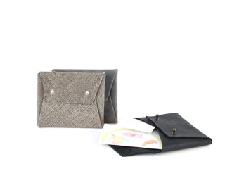 Wallet or case for personal documents in recycled leather
