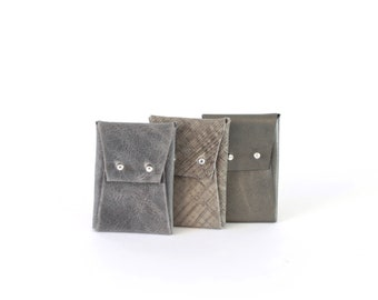 Leather coin purse or card holder