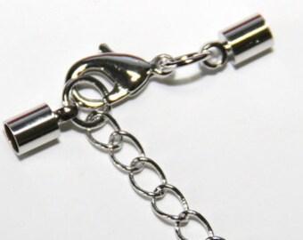 100 Verschlüsse 12 x 5 mm Verbinder Crimp Armband Verschluss Endkappen Öse