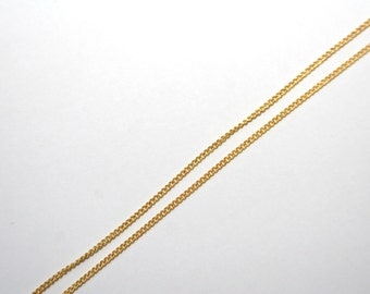 1 Meter delicate chain / 2 x 2mm /   color: gold GK044
