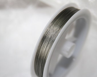 Jewelry wire / Ø 0,38mm / 80 meters / nylon-coated / color: grey  SD03
