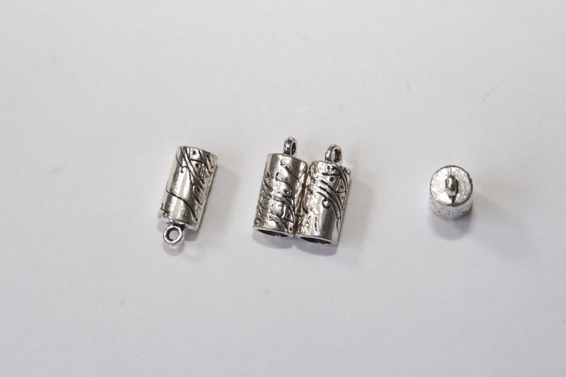 End caps  8x18mm  fits for 6mm cords  silver tone  EK026 10 PCs