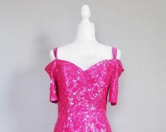 Brilliant thermostick pattern Flamant pink Sequins pink black border
