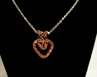 Wire Woven Copper Heart