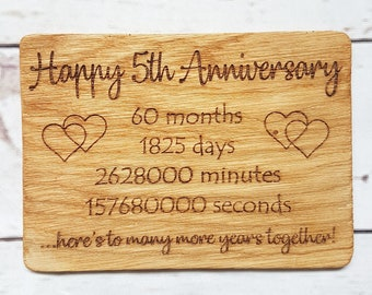 Wood anniversary | Etsy
