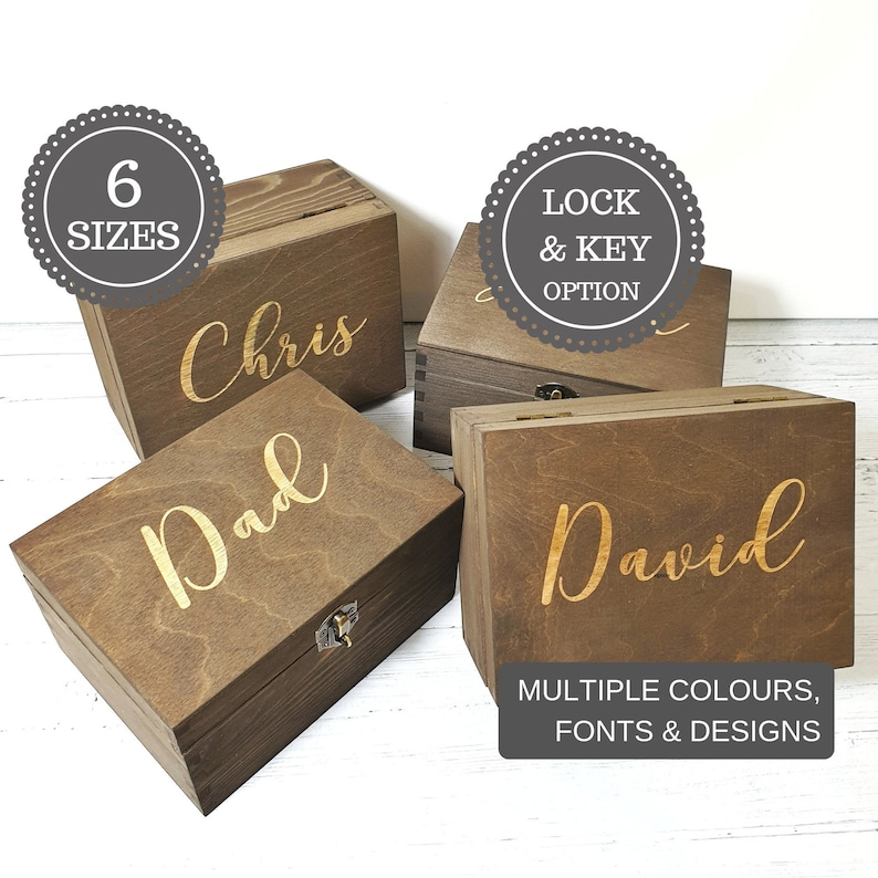 Best Man Engraved Wedding Gift Box Personalised Groomsmen Wooden Box Usher Gift Best Man Proposal Idea Father Of Groom Bride Gift